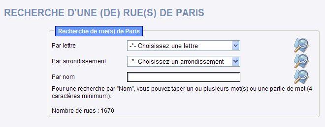RUES DE PARIS : INDEX et STREET VIEW Paris010