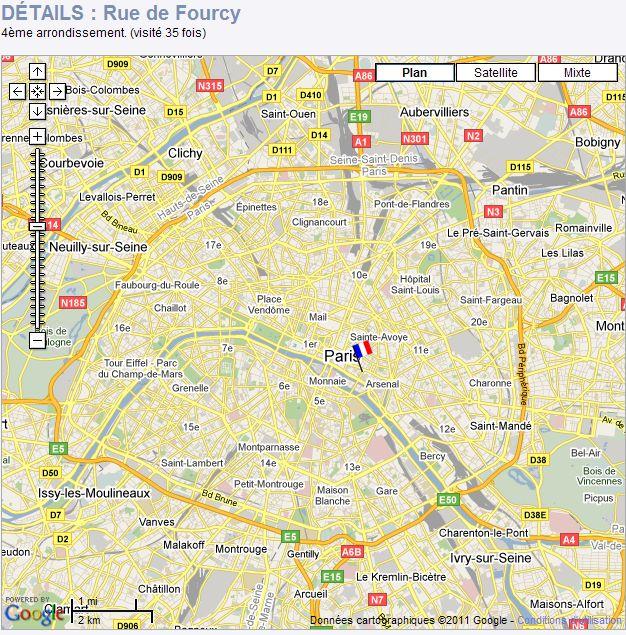 RUES DE PARIS : INDEX et STREET VIEW Paris011