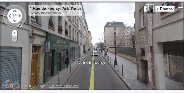 RUES DE PARIS : INDEX et STREET VIEW Paris012