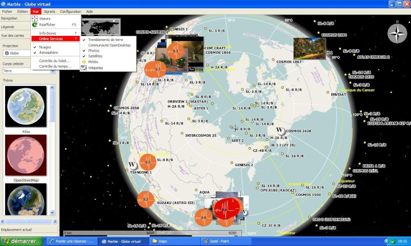 MARBLE VIRTUAL GLOBE - KDE Education Project Satel10