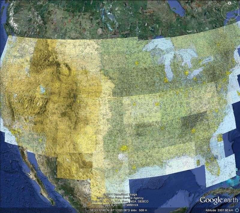 OVERLAY : La carte aéronautique des U.S.A. - AERO CHARTS Usa110
