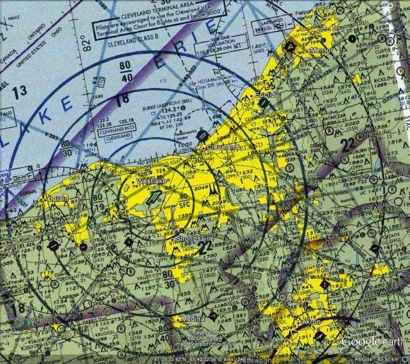 OVERLAY : La carte aéronautique des U.S.A. - AERO CHARTS Usa210