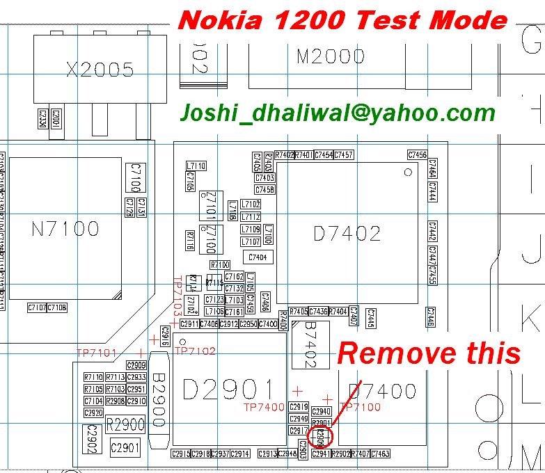 Nokia 1200 test mode & not charging solutions 1200t10