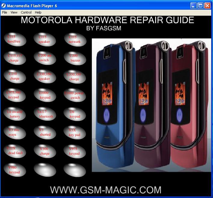 Moto Hardware repair guide M11