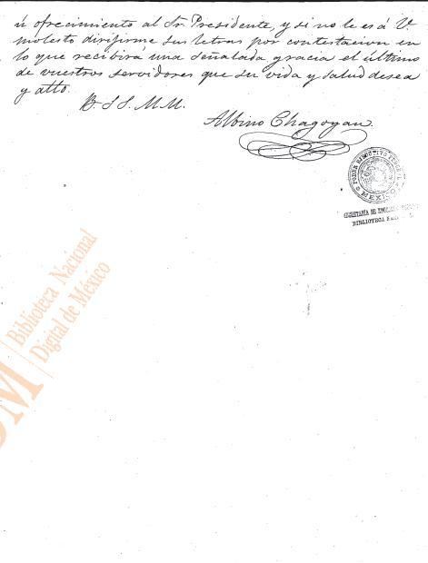 Carta al Gral. Jesús Gzz. Ortega sobre una mina (1863) 310