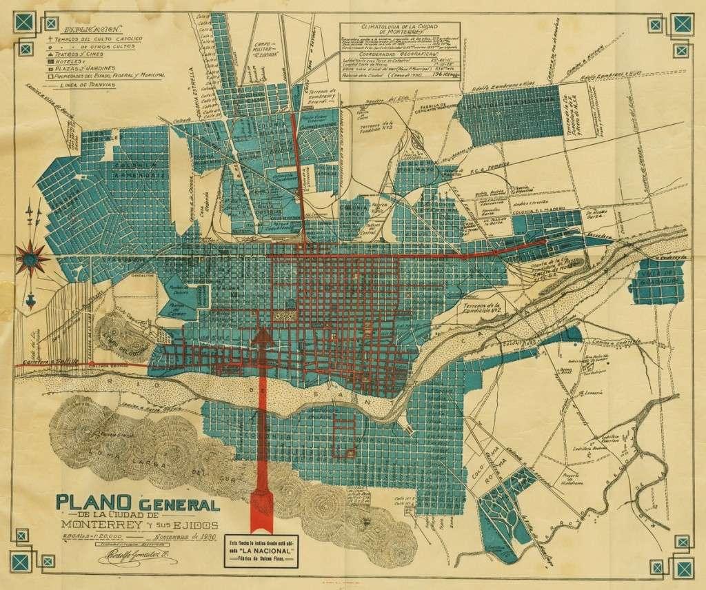Mapa de Monterrey de 1930 Mapa_d11