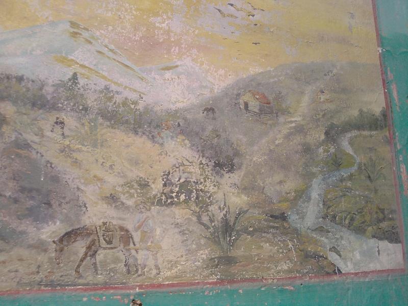 Mural de un gambusino en casa abandonada de S.L.P. ¿una pista oculta? P2808113