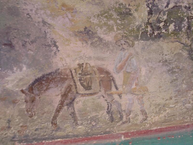 Mural de un gambusino en casa abandonada de S.L.P. ¿una pista oculta? P2808115