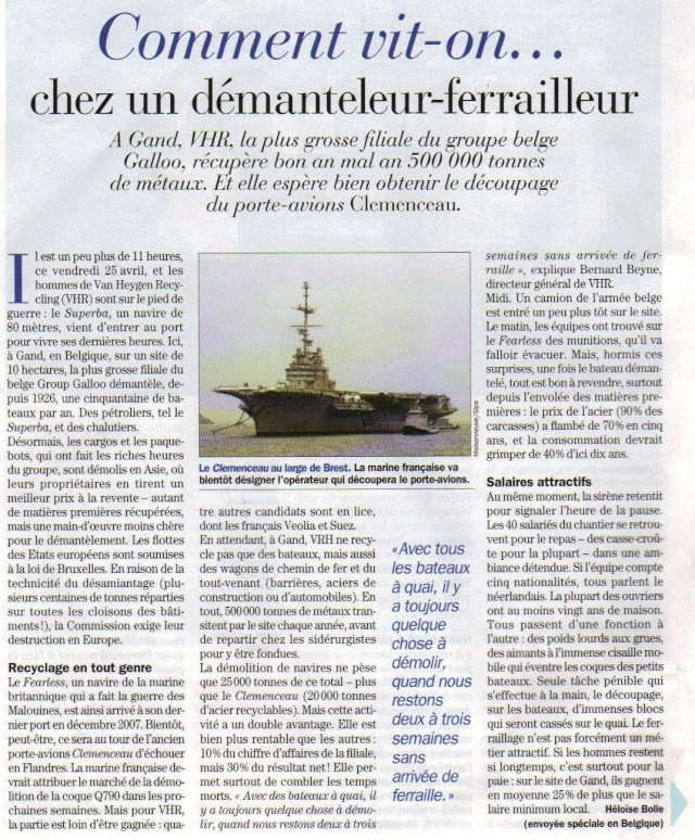 Démantèlement du Clemenceau et Colbert... Photo12