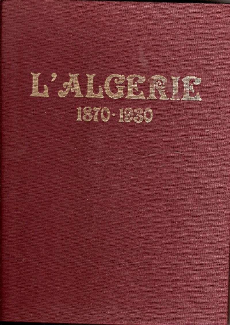 LIVRE   l'ALGERIE   1870---1930 Scanne98