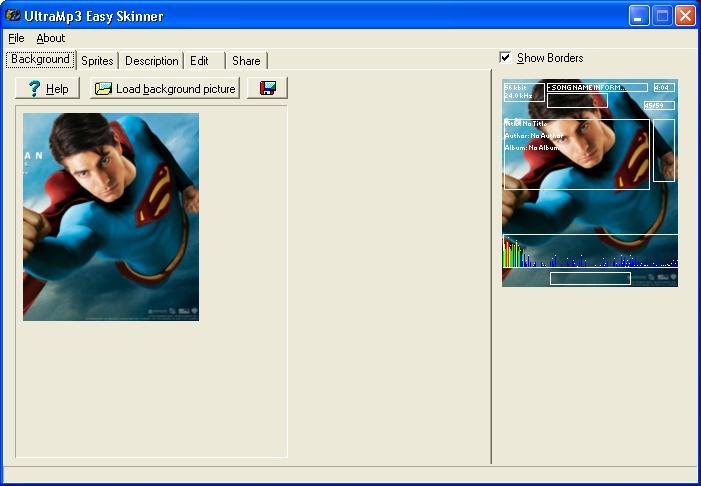 UltraMP3 Skinner to make Wallpaper S60 UIQ S80 Ultra110