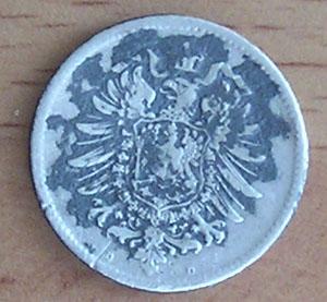 Imperio Alemán, 1 mark, 1875. Ma212