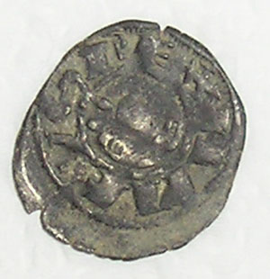 Dinero-pepion de Alfonso VIII, ceca Toledo Mdv110
