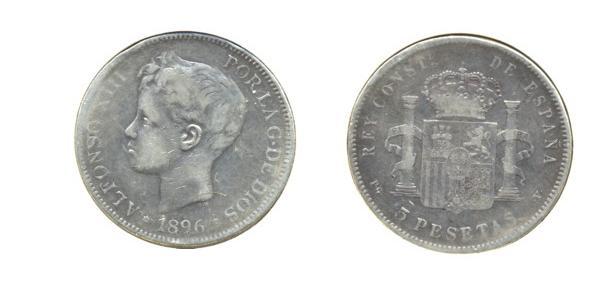 5 ptas. de Alfonso XIII (Madrid, 1896 d.C) Des_al10