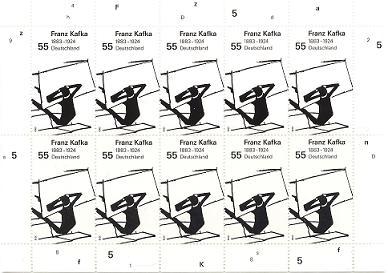Neue Briefmarken würdigen Corinth und Kafka Jy16-010