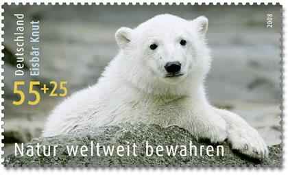 Eisbär Knut auch auf Briefmarke Knut10