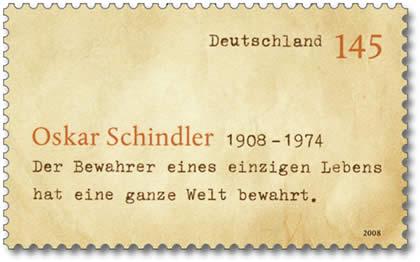 Sonderbriefmarke zum 100. Geburtstag von Oskar Schindler Schind10