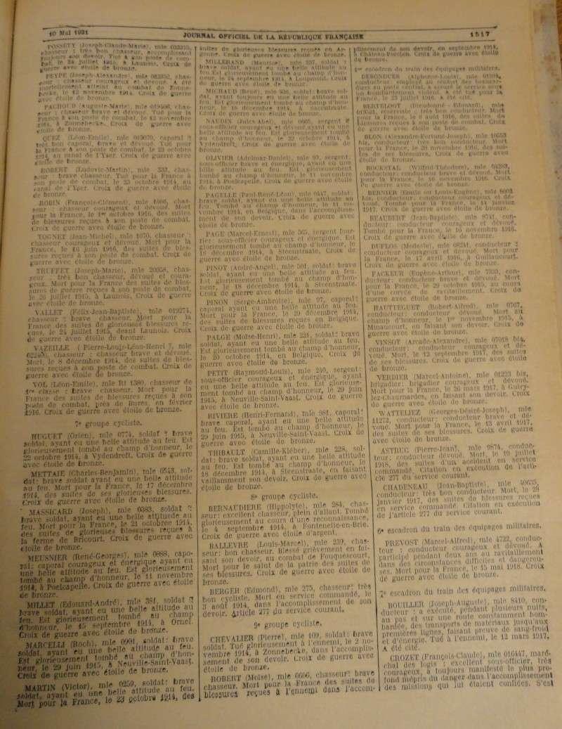 Citations_ Compagnies cyclistes_1914-1918 B1921_10