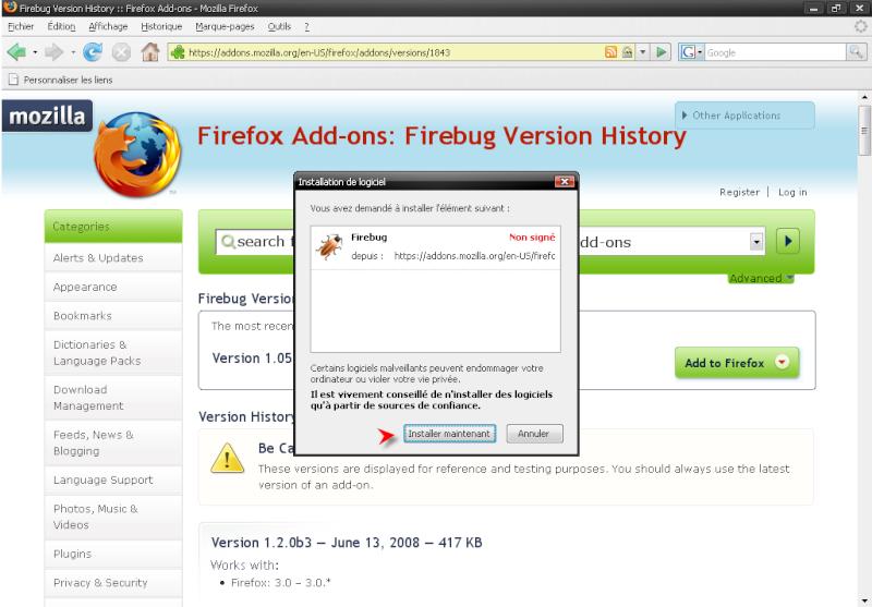 Télécharger Mozilla Firefox 3.0.1 311