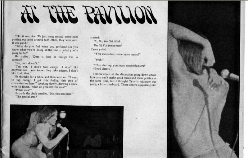 Changes Magazine 1969 - MC5 and Stooges at the Pavilion, NY Change13