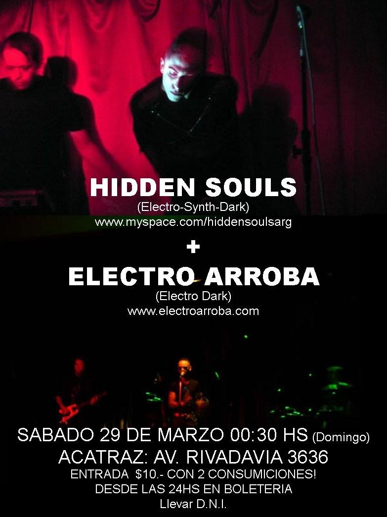 HIDDEN SOULS + ELECTROARROBA EN VIVO Flyer_10