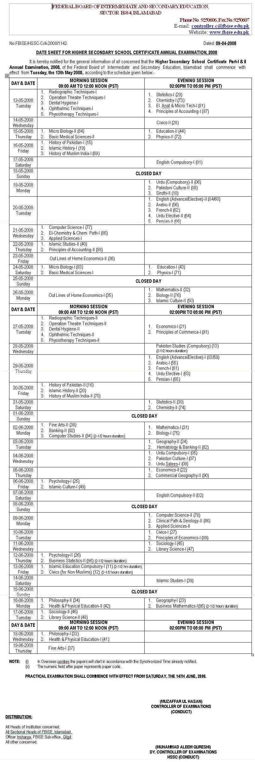 HSSC DATE SHEET 2008 Board_10