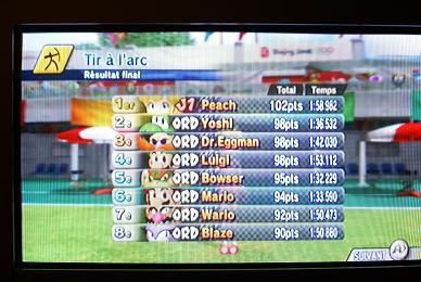 WII Mario & Sonic aux JO Score10