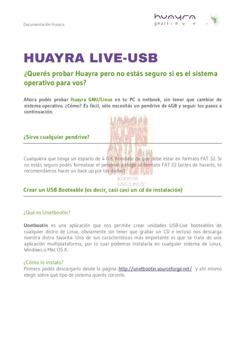 Huayra ¿Querés probarlo pero no estás seguro si es el sistema operativo para vos? Imag_137