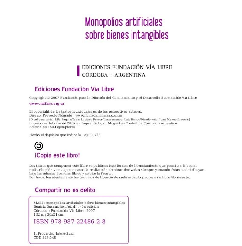 Monopolios artificiales sobre bienes intangibles (libro) Pag_249