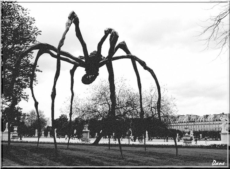 sculpture au Luxembourg Araign10