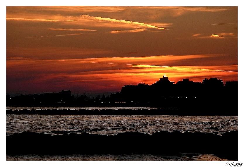 encore 1 coucher de soleil sur la Grande-Motte Encore11