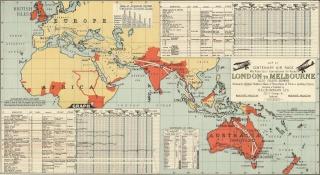 London-Melbourne Air Race 0-map10