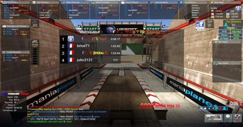 Notre premier serveur sur TM² Screen12