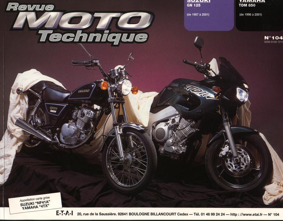 Revue technique GN 125 1987 - 2001 Page110
