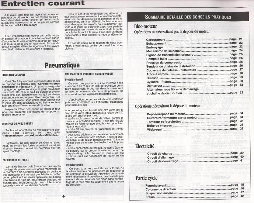 Revue technique GN 125 1987 - 2001 Page2010