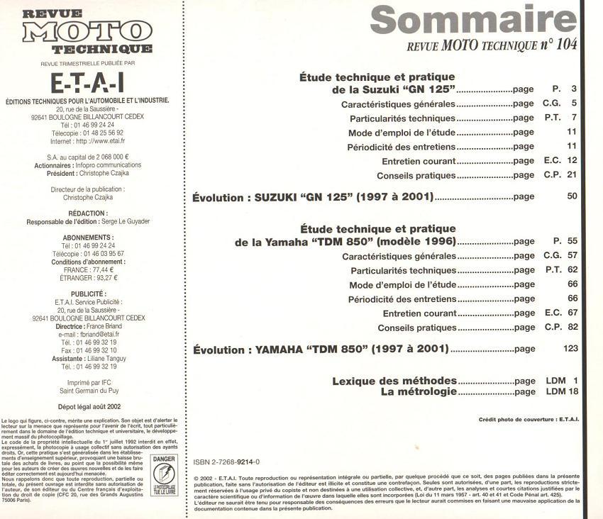 Revue technique GN 125 1987 - 2001 Page210