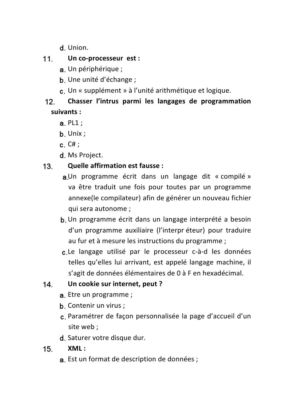 وزارة الصحة: نموذج مباراة توظيف تقنيين متخصصين من الدرجة الثالثة السلم 9 التخصص: أنظمة المعلوميات و التنمية المعلوماتية. دورة 27 يونيو 2010 373
