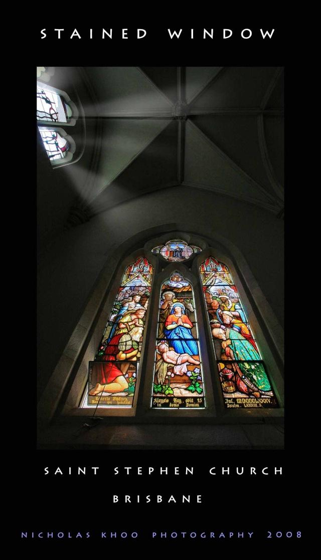 Brisbane church window Staine10