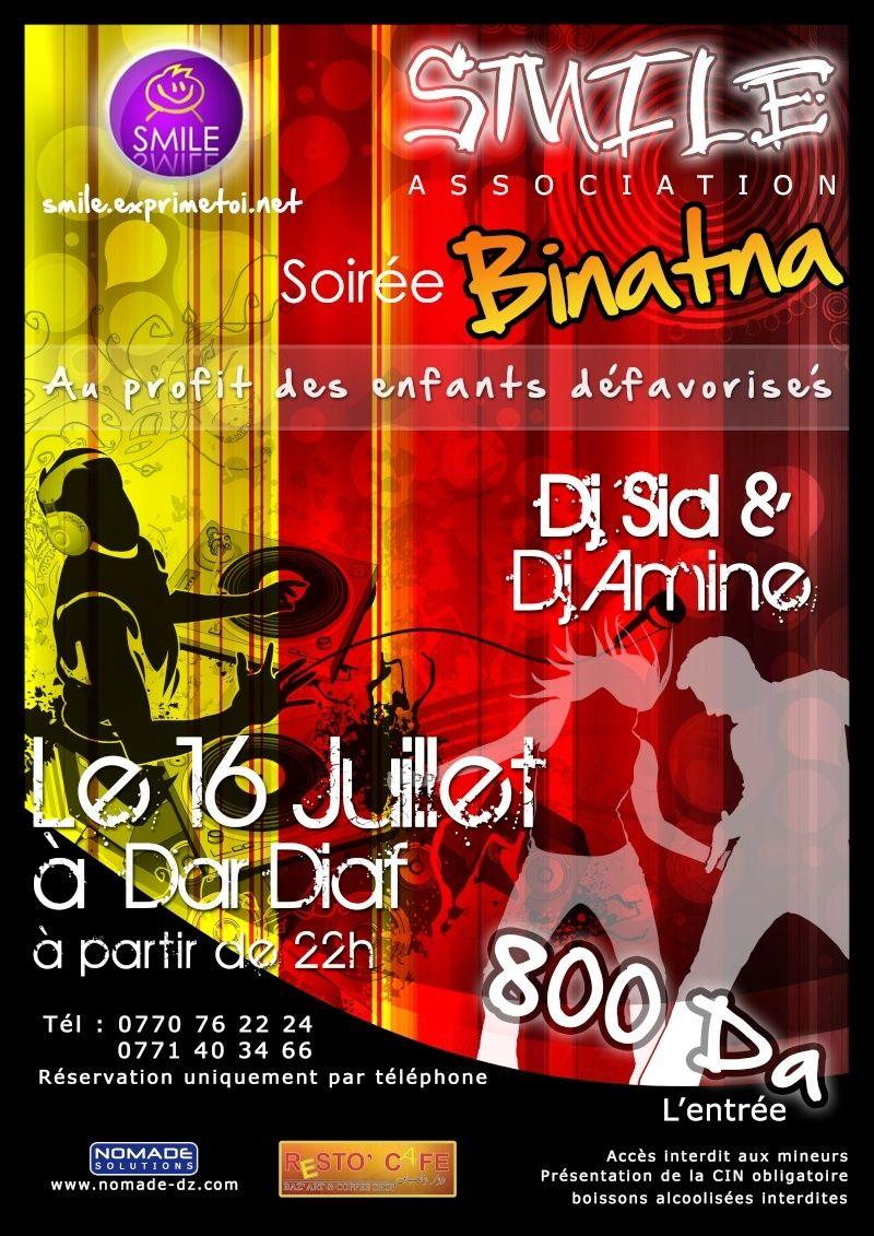 Soirée Binatna : smile 1 an deja Affich12