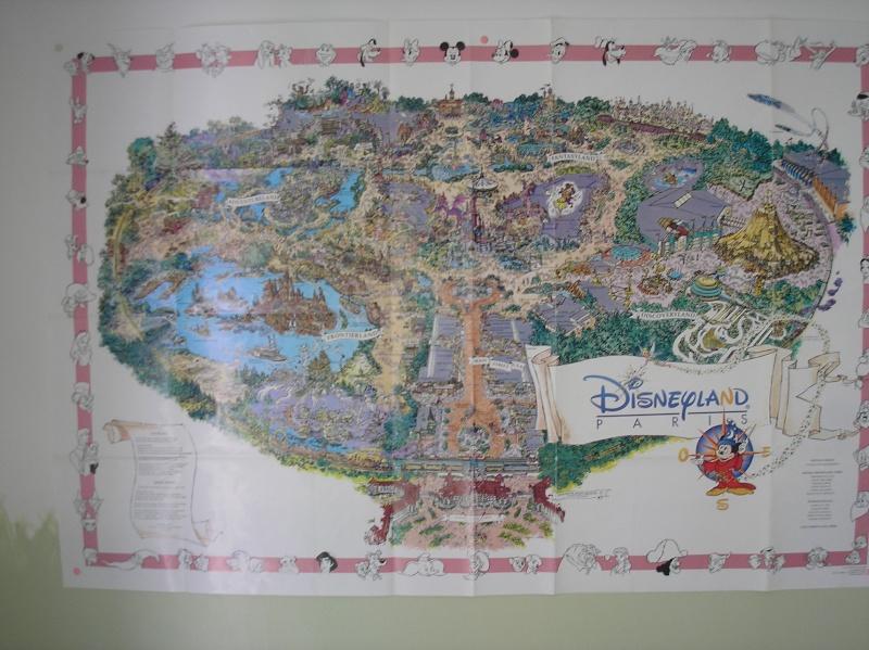 Plan poster du parc 1992 P1010010