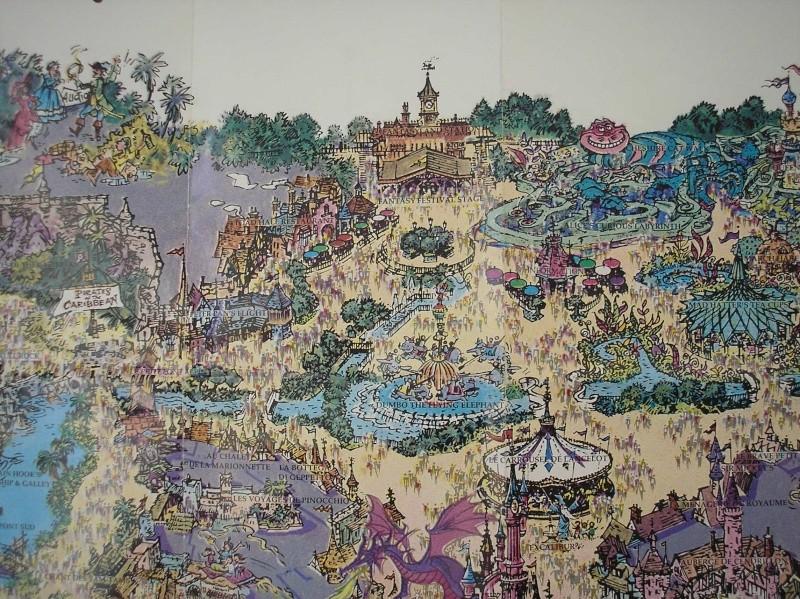 Plan poster du parc 1992 P1010011