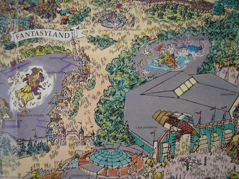 Plan poster du parc 1992 P1010014