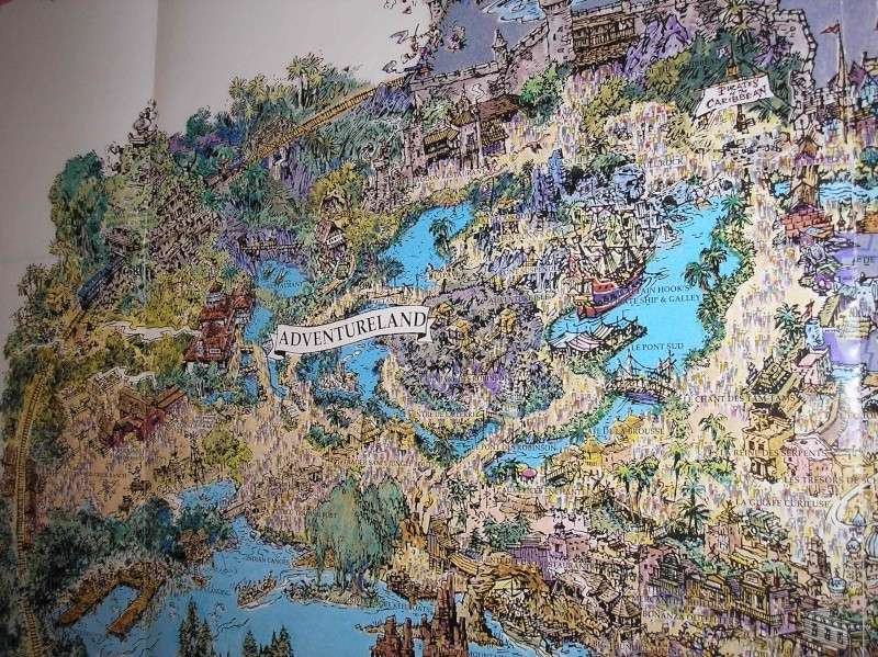 Plan poster du parc 1992 P1010019