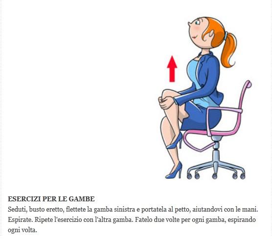 Ginnastica in ufficio Dd10