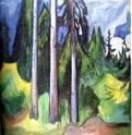 Edvard Munch [peintre/graveur] Foret10