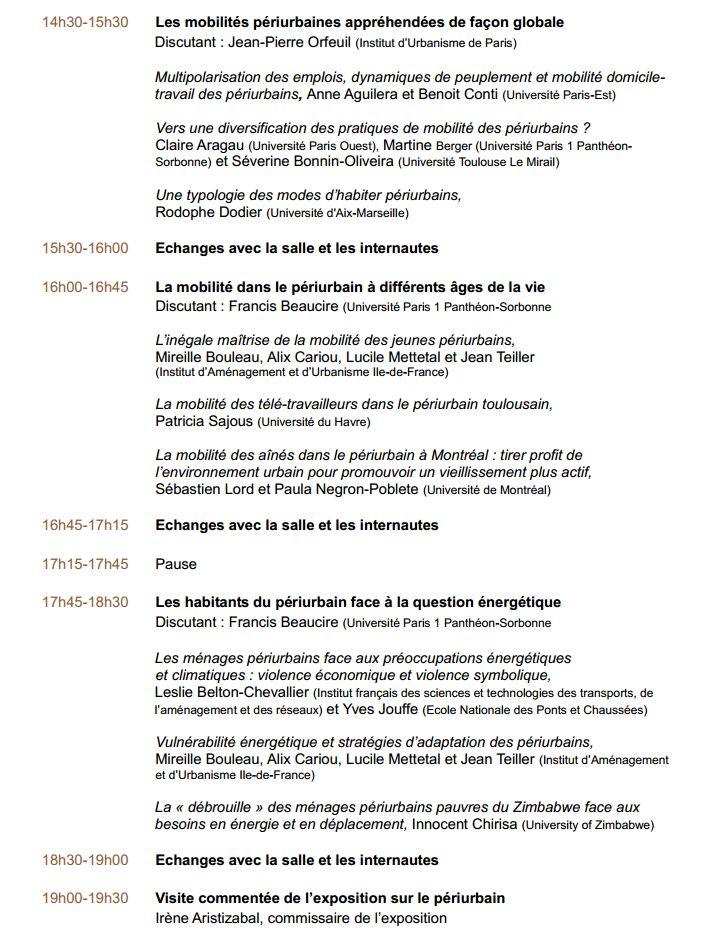 24-25 janvier 2013 - Paris - Rencontre Des mobilités durables dans le périurbain, est-ce possible ? Progra11