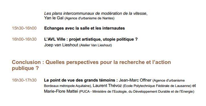 24-25 janvier 2013 - Paris - Rencontre Des mobilités durables dans le périurbain, est-ce possible ? Progra13