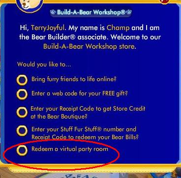 Visual Party room code Screen12