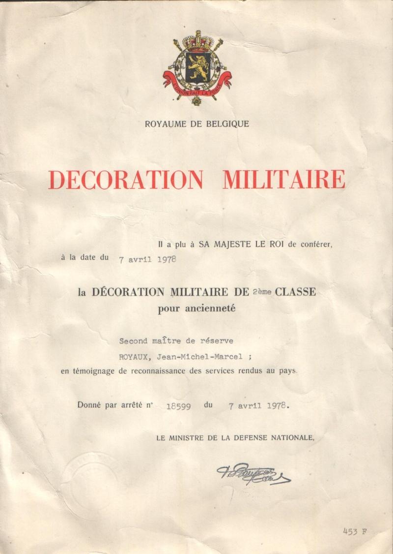 Décorations militaires dans la Force Navale - Marine Belge Bvtmil16