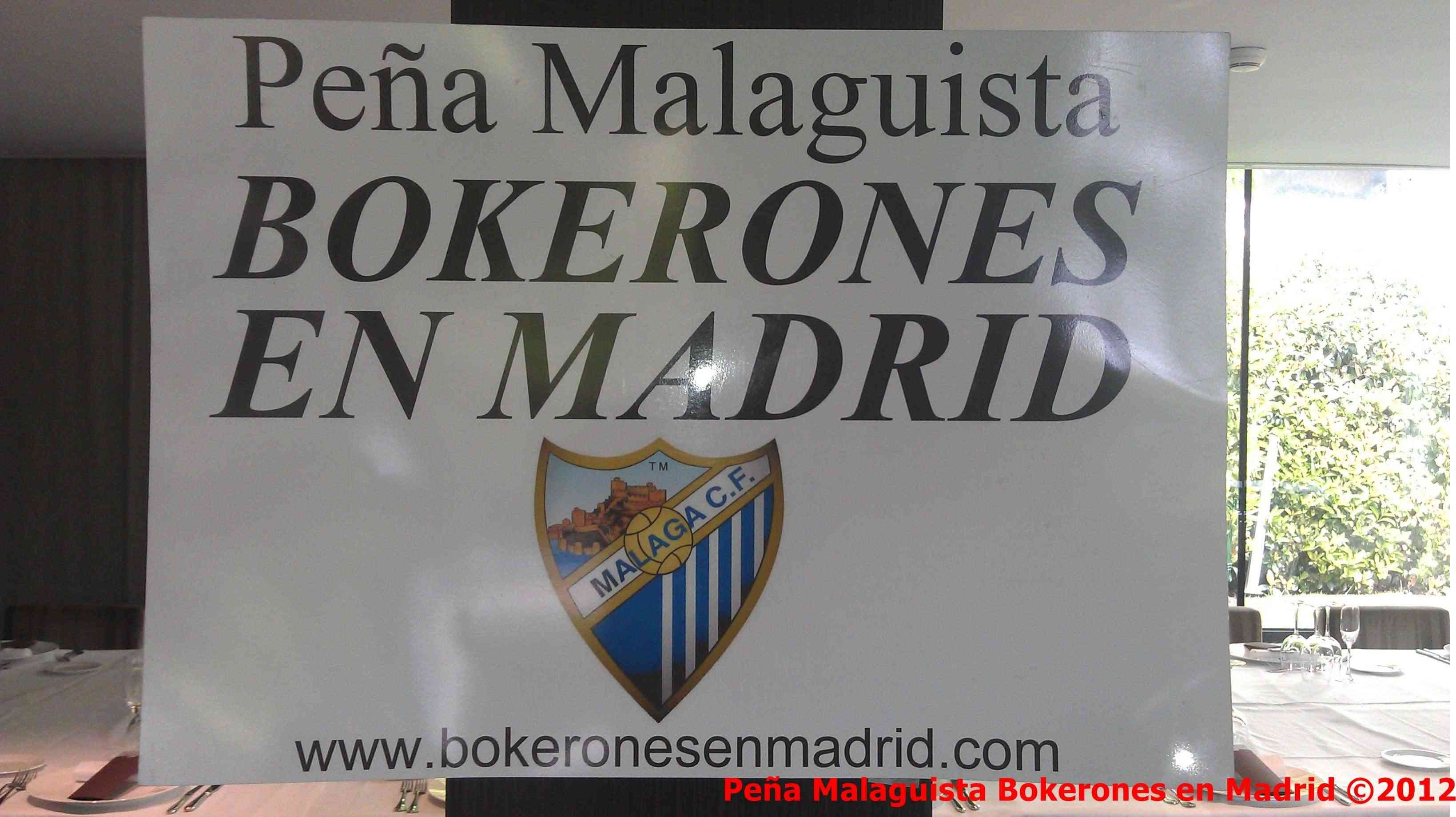 La Peña Malaguista Bokerones en Madrid entregará placa a Jesús Gamez Actobe10